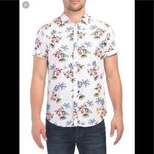 Denim & Flower Slim Fit Hawaiian Shirt size L